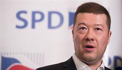 Facebook chce zrušit stránky SPD, Tomia Okamury i Radima Fialy. Porušují prý zásady komunity