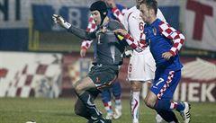 Po tragických chybách v obraně dostali Češi v Chorvatsku čtyři góly