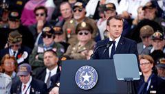 'Jsme vám vděčni za naši svobodu.' Macron při oslavách Dne D zmínil i roli Čechoslováků