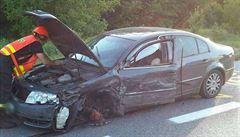 Na Vyškovsku se srazilo auto a kamionem. Nehoda zavřela na dvě hodiny hlavní tah z Brna na Hradiště