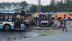 Požár v garážích DPO způsobil škodu 22 milionů korun, sedm autobusů je nepojízdných