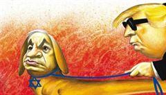 Konec kreslených vtipů v The New York Times. Kreslířům nejspíš zlomila vaz karikatura Netanjahua na vodítku