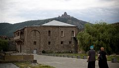 Starobylé centrum gruzínského křesťanství města Mccheta chrání opevněné kláštery i pevnost