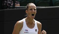 Plíšková postoupila do osmifinále Wimbledonu a vyzve Muchovou, Veselý prohrál ve čtyřech setech