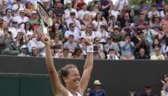 Fantazie. Strýcová přehrála světovou čtyřku a v osmifinále Wimbledonu doplní tři Češky