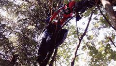 V Beskydech se zranil paraglidista, uvízl na stromě. Musela ho vyprostit horská služba