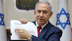 Netanjahu těsně prohrál. Po sečtení většiny hlasů jeho strana získala o křeslo méně než rival