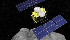 Japonská sonda odlétá od asteroidu Ryugu a vrací se na Zemi. Není jasné, jestli přiveze vzorky