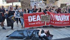 Lidé v Ústí nad Labem protestovali proti insolvenci rumburské nemocnice