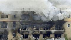 VIDEO: Žhář zapálil studio animovaného filmu v Japonsku. Zemřelo nejméně 33 lidí