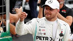 Bottas opanoval kvalifikaci v rekordním čase, domácí Hamilton dojel těsně druhý