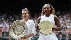 Williamsová se ve finále Wimbledonu trápila, Rumunka Halepová ji hladce porazila ve dvou setech