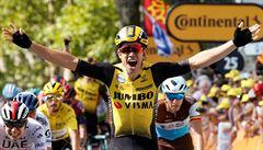 Van Aert oslavil svoji premiéru na Tour vítězstvím, ve žlutém pokračuje Alaphilippe