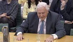 Ničení planety bude jednou vnímáno se stejným odporem jako otroctví, řekl přírodovědec Attenborough