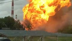 U Moskvy hořela elektrárna, plameny šlehaly desítky metrů vysoko. Zemřel nejméně jeden člověk