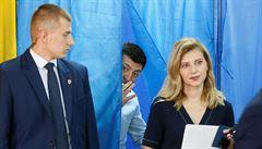 Předčasné volby na Ukrajině vyhrála podle odhadů Zelenského strana. Získala přes 40 procent hlasů
