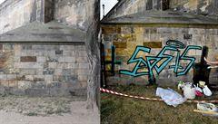 Neschválené odstranění graffiti z Karlova mostu nepoškodilo zdivo, potvrdila pražská TSK