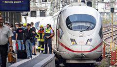 Muž ve Frankfurtu shodil pod vlak matku s dítětem. Osmiletý chlapec zemřel