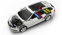 Model ŠKODA OCTAVIA G-TEC s motorem 1,5 TSI nabízí čistě na zemní plyn dojezd...
