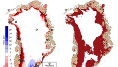 Rekordní tání ledovců v Grónsku. Během jednoho dne tam roztálo 12 miliard tun ledu