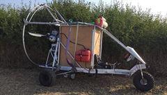 Ukrajinec přeletěl slovenské hranice na podomácku vyrobeném stroji. Případ řeší policie