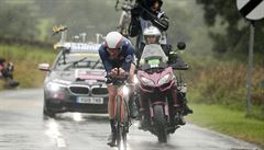 Časovku mužů do 23 let výrazně narušil déšť. Horší závod jsem nejel ani v Rumunsku, zlobí se Otruba
