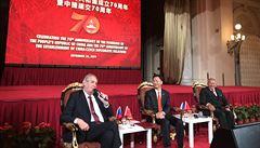 'Hřib je menší komplikací.' Zeman je zklamaný z napjaté situace v kulturní spolupráci s Čínou
