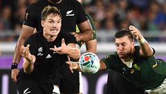 63:0. Nový Zéland sestřelil Kanadu největším rozdílem na letošním MS v ragby