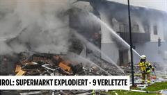 Při explozi v rakouském supermarketu bylo zraněno devět lidí. Dělník nejspíš navrtal rozvod plynu