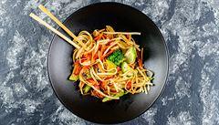 Do asijské kuchyně proniká vegetariánství. Maso nahrazuje směs hrášku, hub šitake, rýže a sóji