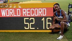 VIDEO: Historický závod. Překážkářka Muhammadová má světový rekord, Hejnová doběhla pátá