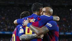 Vaclík dostal v Barceloně čtyři góly. Ta i bez dvou vyloučených hráčů vyhrála 4:0