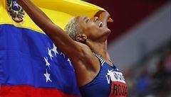Radost zbídačené země. Moji lidé trpí a umírají, říká zlatá venezuelská trojskokanka