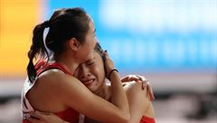 VIDEO: Jsou pro smích celému světu. Čínské sprinterky zmatkovaly ve finále MS jako malé děti