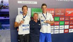 Sedmnáctiletý český plavec Luňák na Světovém poháru v Budapešti získal bronz
