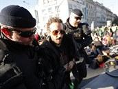 Blokáda pražské magistrály hnutím Extinction Rebellion.