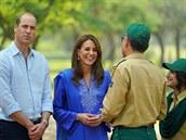 Britský princ William s manželkou Kate na návštěvě Pákistánu.
