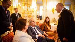 Zeman oslavil na Hradě své 75. narozeniny, popřál mu Dominik Duka nebo Michal David