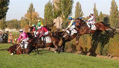 OBRAZEM: Pády i pocity štěstí, Velkou pardubickou vyhrál pojedenácté Váňův kůň
