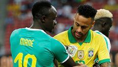 Neymar odehrál sté utkání za reprezentaci. Brazilci remizovali se Senegalem