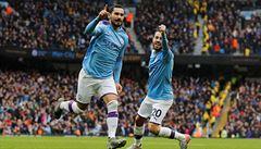 Manchester City porazil Aston Villu 3:0 a je opět druhý, na vedoucí Liverpool ztrácí tři body