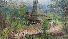 Malíř klasického ražení. Oldřich Blažíček maloval krajiny, portréty i interiéry