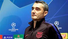 Připravujeme se na skvělého, těžkého soupeře, řekl trenér Barcelony Valverde a ocenil Součka