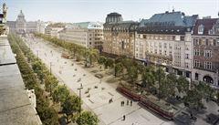 Václavské náměstí bude vypadat jinak, než se plánovalo. Tramvaje pojedou po okrajích