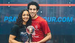 Světová rarita. První manželský pár získal zlato z MS ve squashi v mužské a ženské kategorii