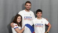 Olympionici představili oblečení pro Tokio, na hrudi bude vyčnívat nápis Česká republika v japonštině