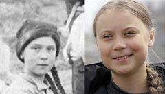 'Cestuje snad Greta časem?' Fotografie stará 121 let rozjela na sociálních sítích novou konspirační teorii