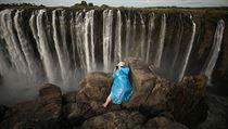 Slavné Viktoriiny vodopády téměř vyschly. Po skalách místo hučící vody teče pouhý potůček