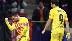 Barcelona zvítězila ve šlágru ligy nad Atléticem, o výhře rozhodl v závěru Messi