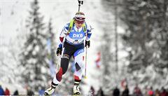 Biatlonistka Charvátová si dojela v Ruhpoldingu pro 15. místo, Davidová ve sprintu vyhořela